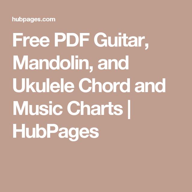 Free Pdf Guitar Mandolin And Ukulele Chord And Music Charts