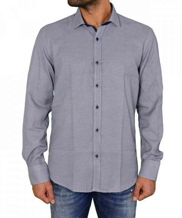 Ανδρικό πουκάμισο μπλε με μικροσχέδια 1183102  ανδρικάπουκάμισα  ρούχα   στυλ  ντύσιμο  άνδρας cb4e0fb608e