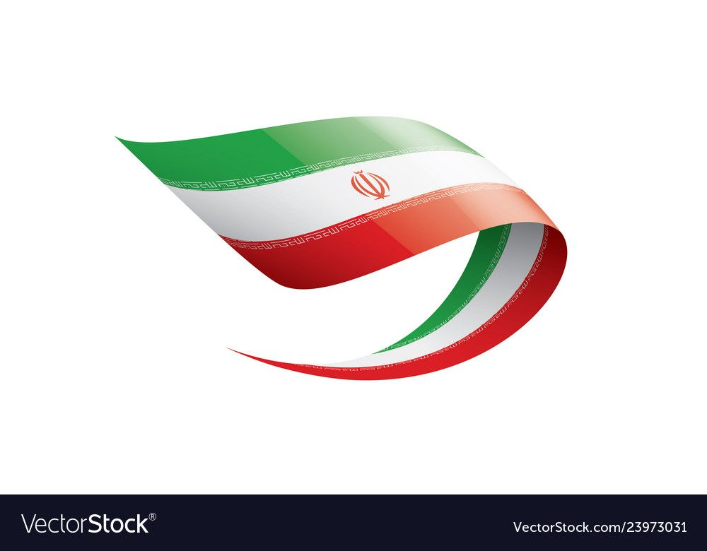 Iran Flag On A White Royalty Free Vector Image Affiliate White Flag Iran Royalty Ad Vector Free Word Template Iran Flag