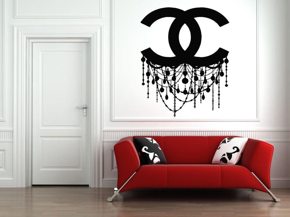 Wall Vinyl Sticker Decals Mural Room Design Chanel Chandelier