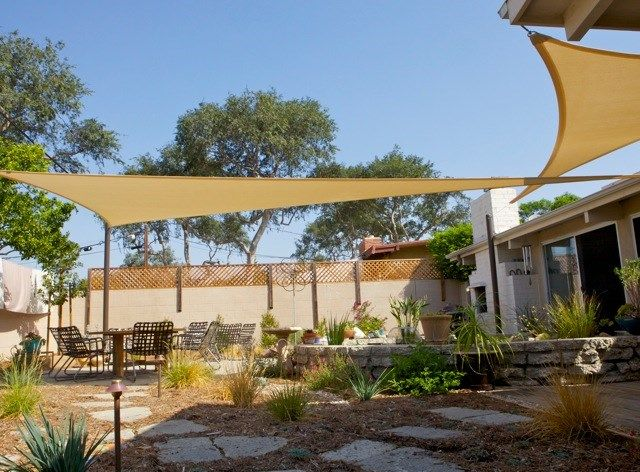 Shade Sails Walkway And Path Terry Design Inc Fullerton CA Back - Shade ideas for backyard