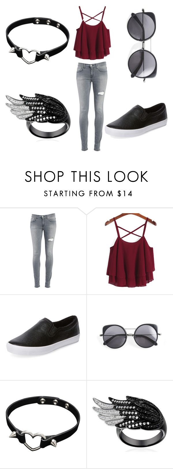 """my 100th set "" by lolol-gg ❤ liked on Polyvore featuring Dondup, Elorie and Wood Wood"