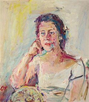 PORTRAIT OF PAMELA HODIN By Oskar Kokoschka ,1959