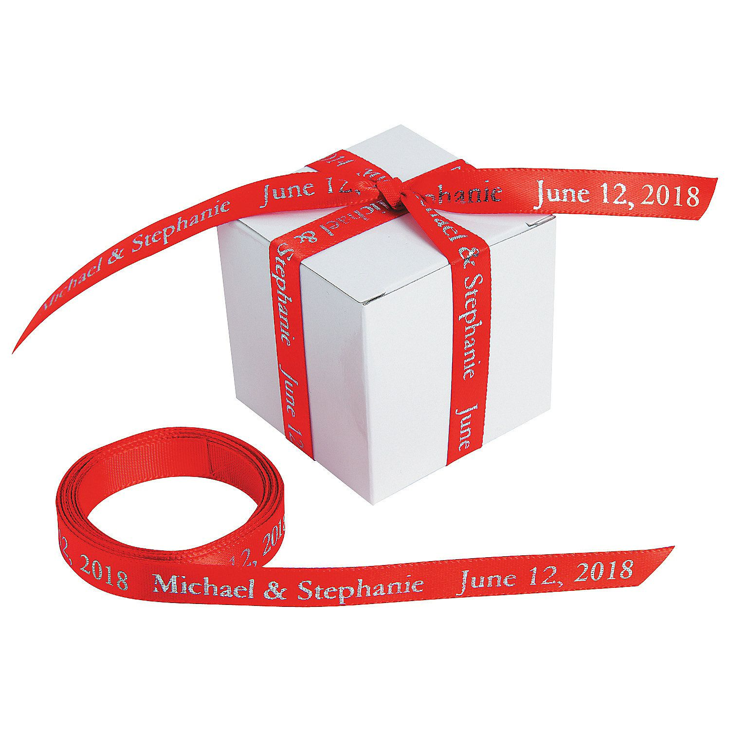 Red Personalized Ribbon - 3/8\