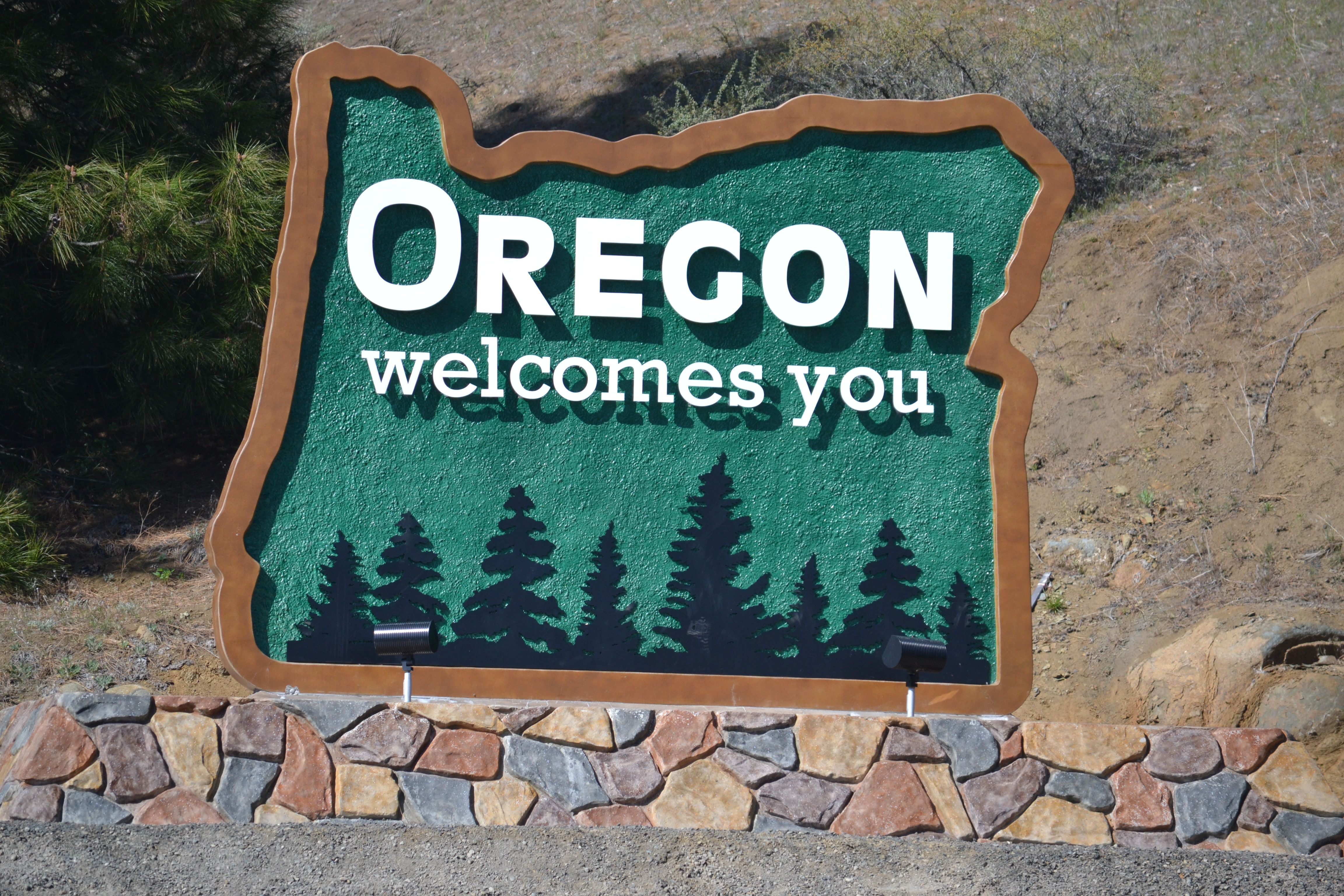 Oregon Welcome Sign Oregon 50 States Signs