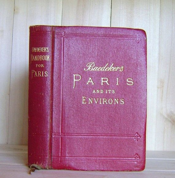 Baedeker's Paris and Environs 1924 Antique by CrookedHouseBooks