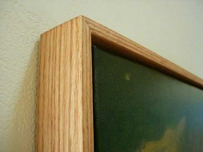 Build An Oak Floater Frame Painting Diy Canvas Frame Painting Frames Floating Canvas Frame