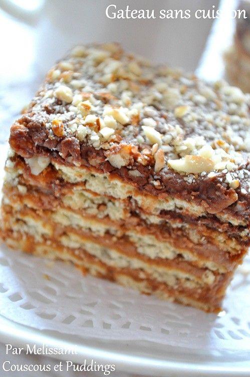 Gâteau sans cuisson façon Tiramisu à la crème au beurre , Couscous et  Puddings