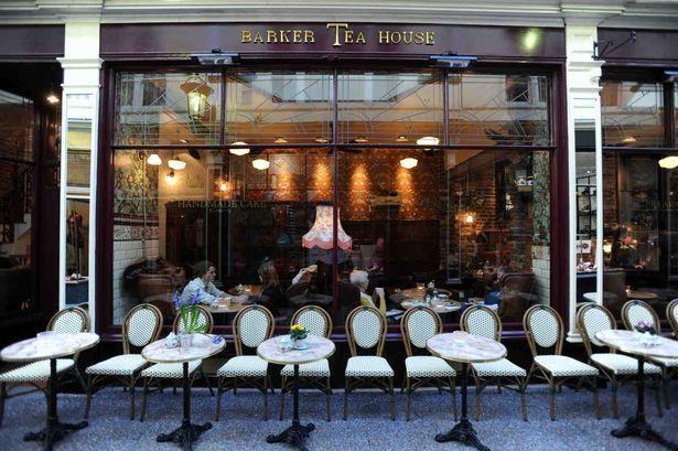 Barker Tea House in the High Street Arcade Cardiff