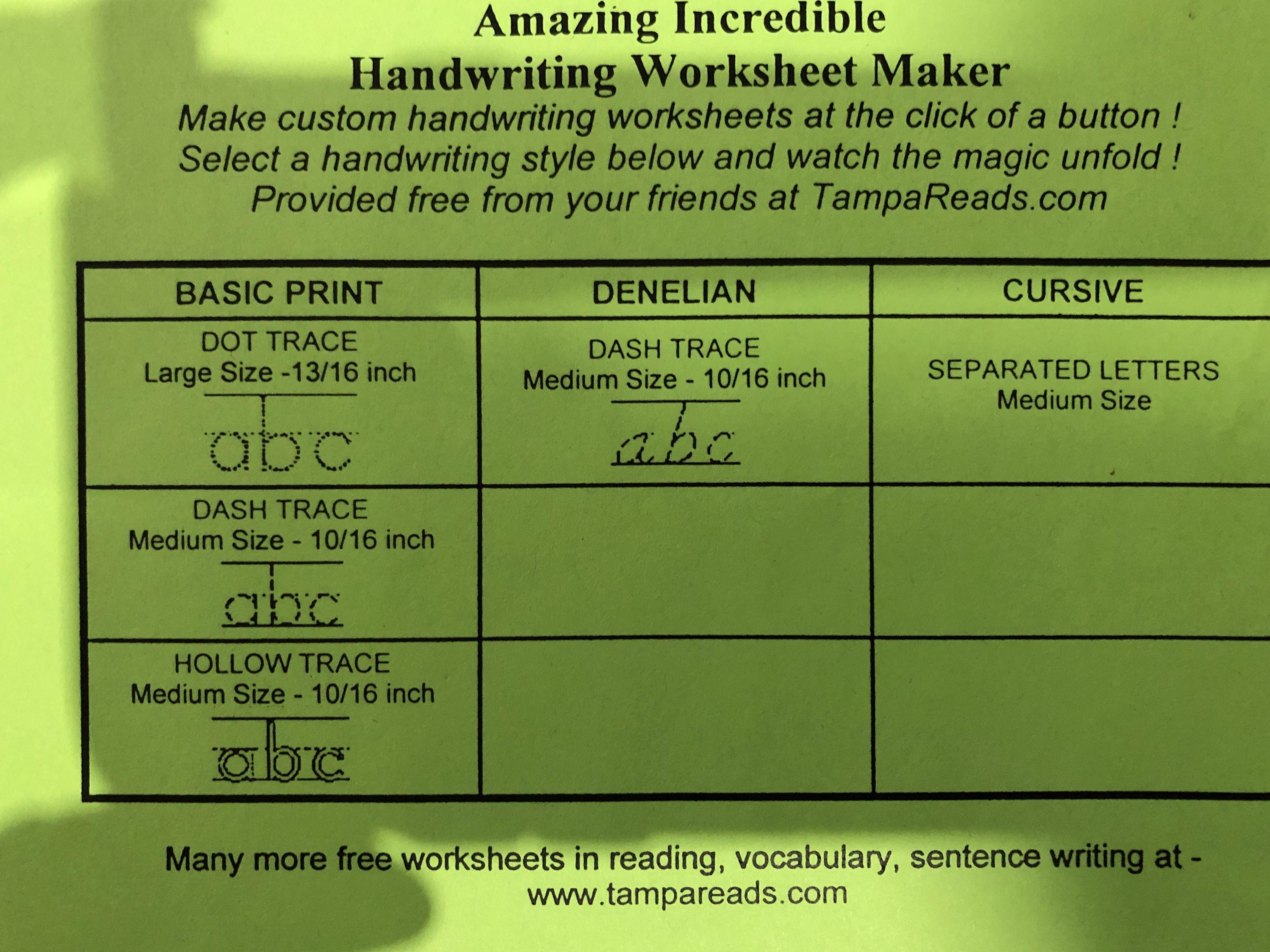 Pin By Lynne Maccall On Grandbaby Handwriting Worksheet Maker Handwriting Worksheets Handwriting Styles