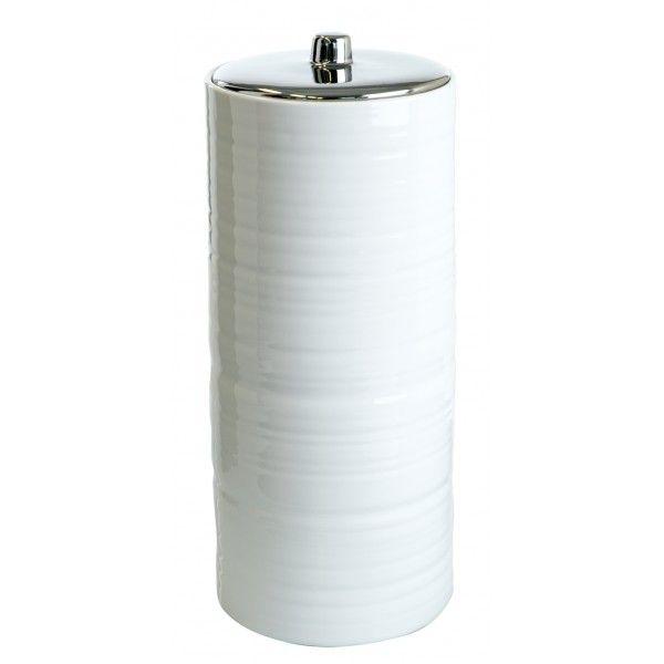 Hush Toilet Roll Holder White Toilet Roll Holder White Toilet Roll Holder Ceramic Canisters