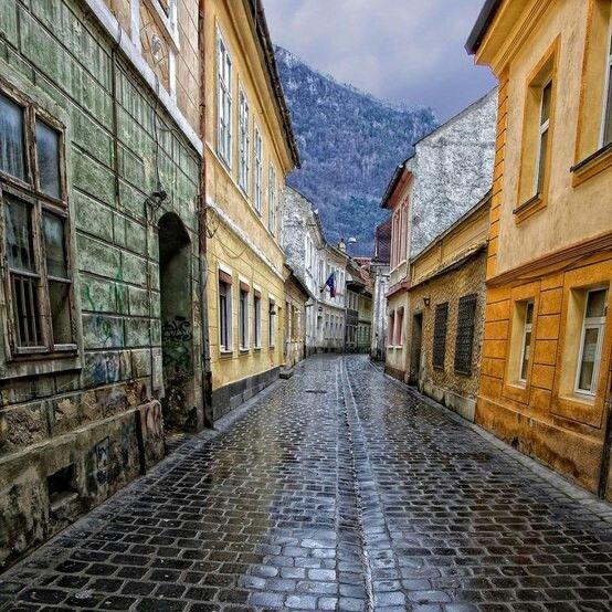 Medieval street, Brassov, Romania
