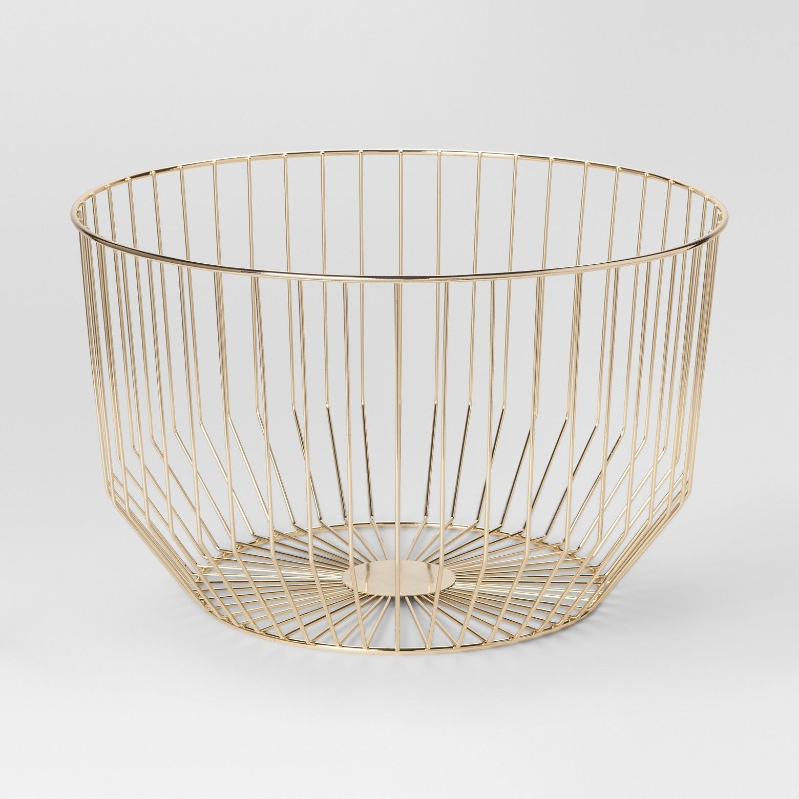 Round Wire Basket Large - Gold - Project 62™ | Small places, Wire ...