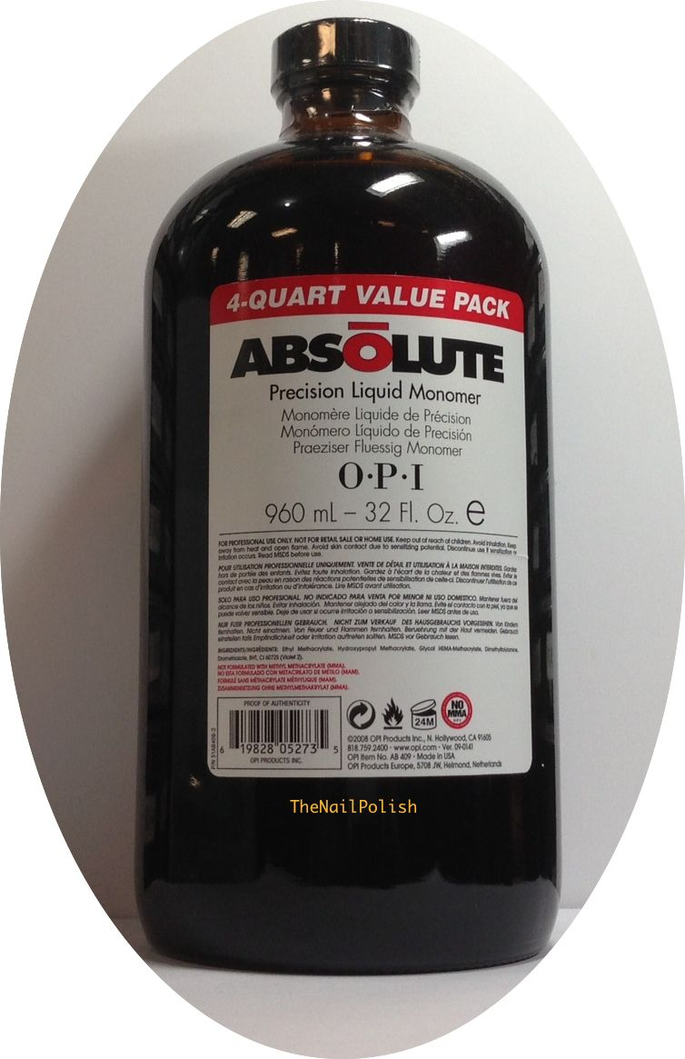 Other Nail Care: Opi Absolute Or Competition Acrylic Nail Liquid ...