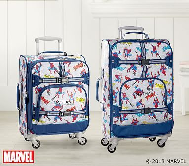 Marvel Glow In The Dark Spider Man Small Spinner Luggage