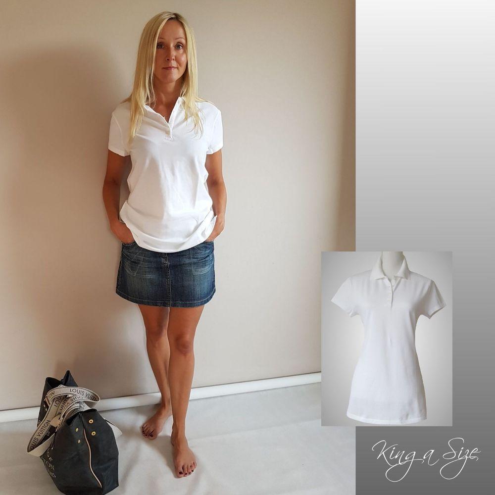 calcio Dar Mono  BENETTON - Damen Polo Shirt / Poloshirt / Polohemd Hemd 100% Baumwolle Gr.L  weiß | Blusen damen, Damen mode, Kleidung