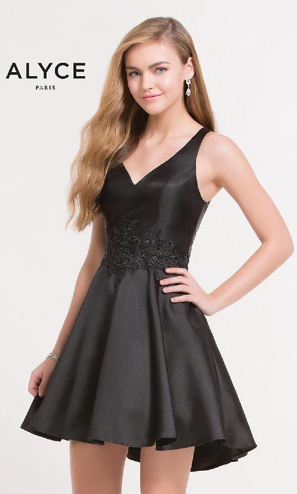 8f69255d54c4 Alyce Paris AL-3707 dress, Black Alyce Paris dresses in 2019 | Short  Homecoming Dresses | Prom dresses, Homecoming dresses, Cocktail dress prom