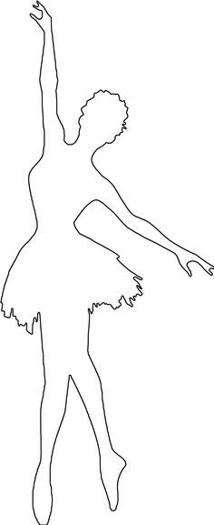 pin the tutu on the ballerina template - image result for ballerina silhouette coloring pages