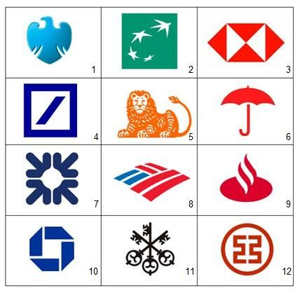 Bank By Logo Picture Quiz By Pingpongking Banks Logo