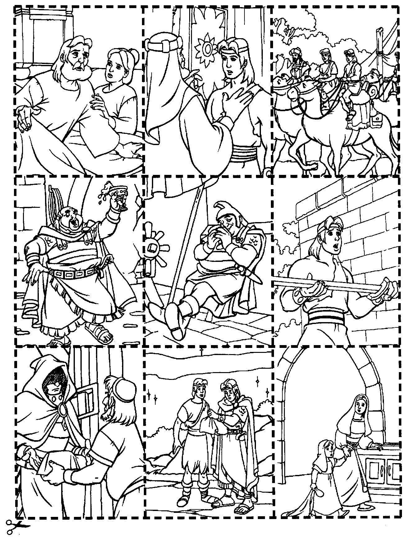 Nephi Puzzle Jpg 1307 1732 Lds Coloring Pages