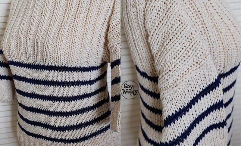 Cómo tejer un Jersey/Suéter básico de punto con mangas | Pinterest ...