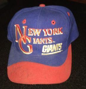 9d5894e7617b06 Vintage New York Giants NG NY Eastport Snap Back Team NFL Cap Hat 80's Red  Blue   eBay