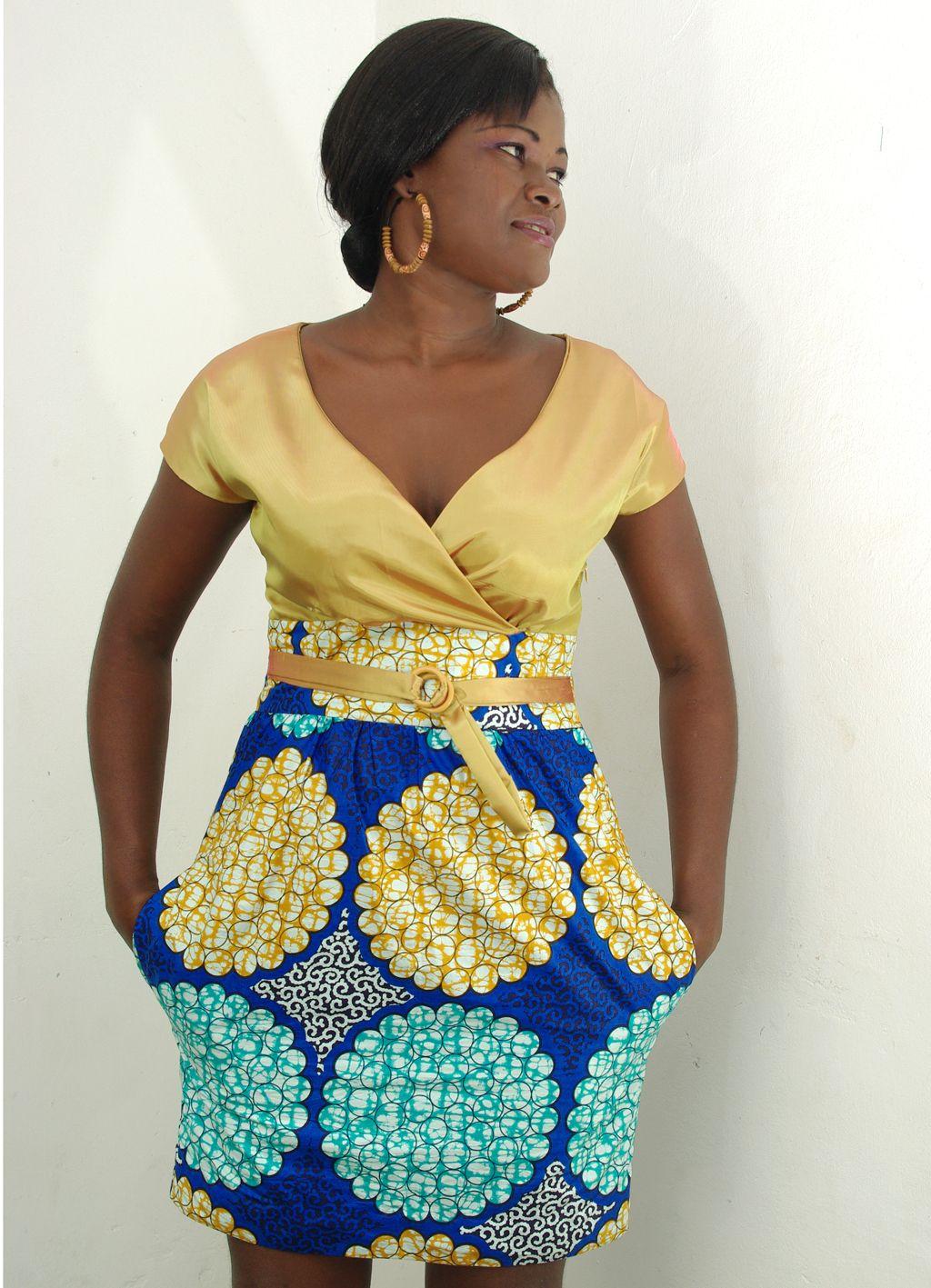 mode africaine robe en pagne. Black Bedroom Furniture Sets. Home Design Ideas