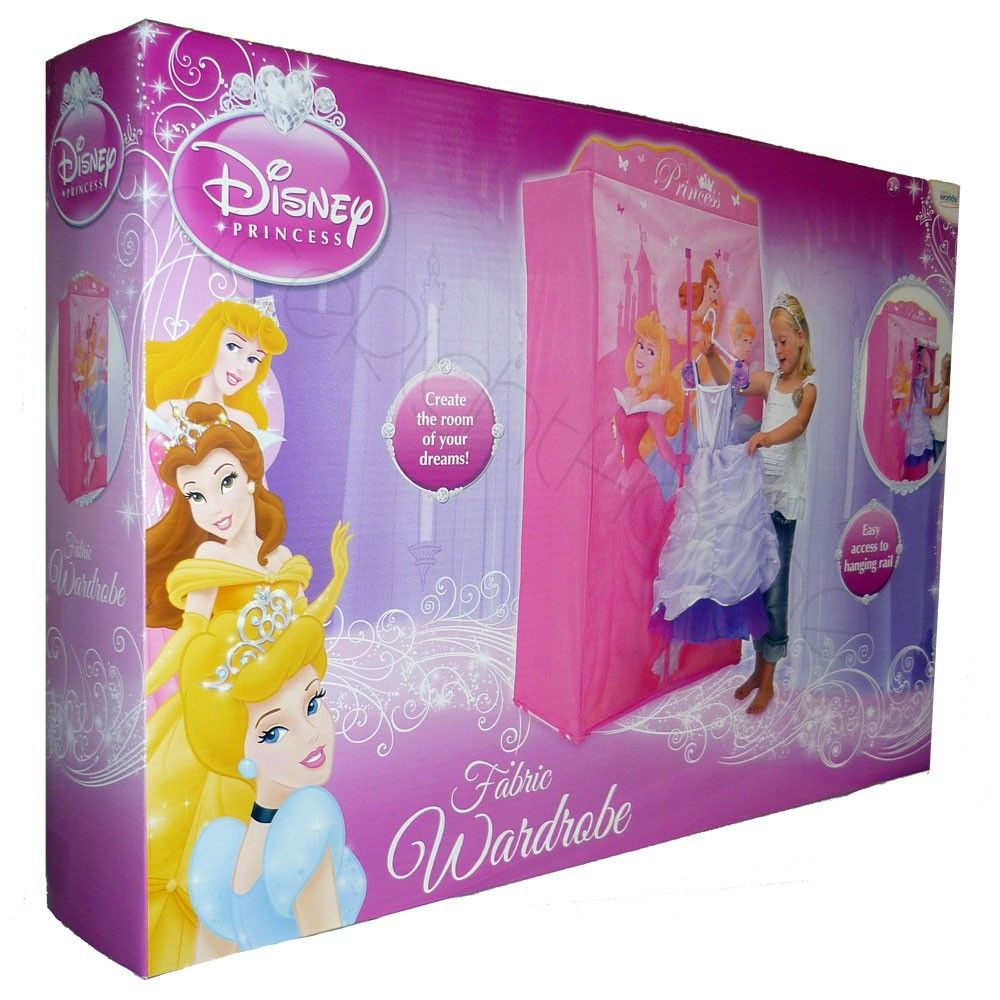 DISNEY PRINCESS FABRIC WARDROBE BEDROOM FURNITURE | Kids Items ...