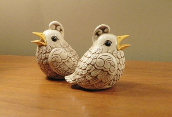 Scandinavian Ceramic Quail Figurine  by HomeologyVintage on Etsy (SOLD)