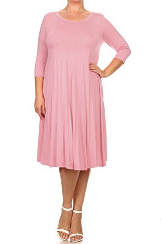 d1a863a0dc2 Pastel by Vivienne Women s A-Line Trapeze Midi Dress Plus... https