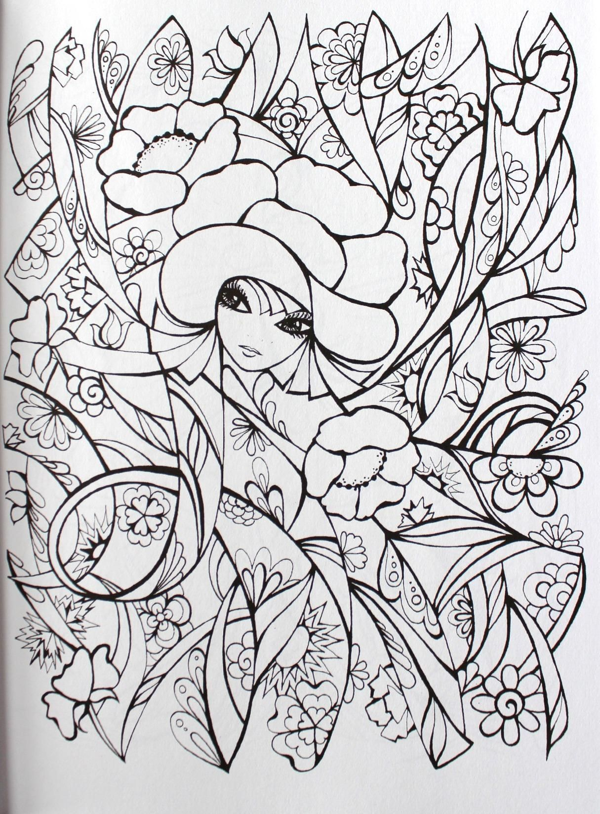 Creative Haven Fanciful Faces Coloring Book Creative Haven Coloring Books Miryam Adatto Creativ Creative Haven Coloring Books Coloring Books Coloring Pages [ 1646 x 1215 Pixel ]