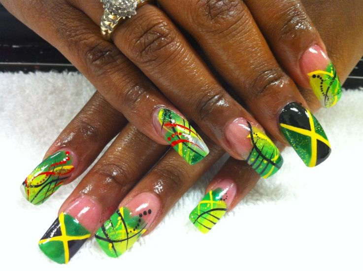 perfect nails for august - Best 25+ Jamaica Nails Ideas On Pinterest Rasta  Nails, - Jamaican Nail Designs Graham Reid