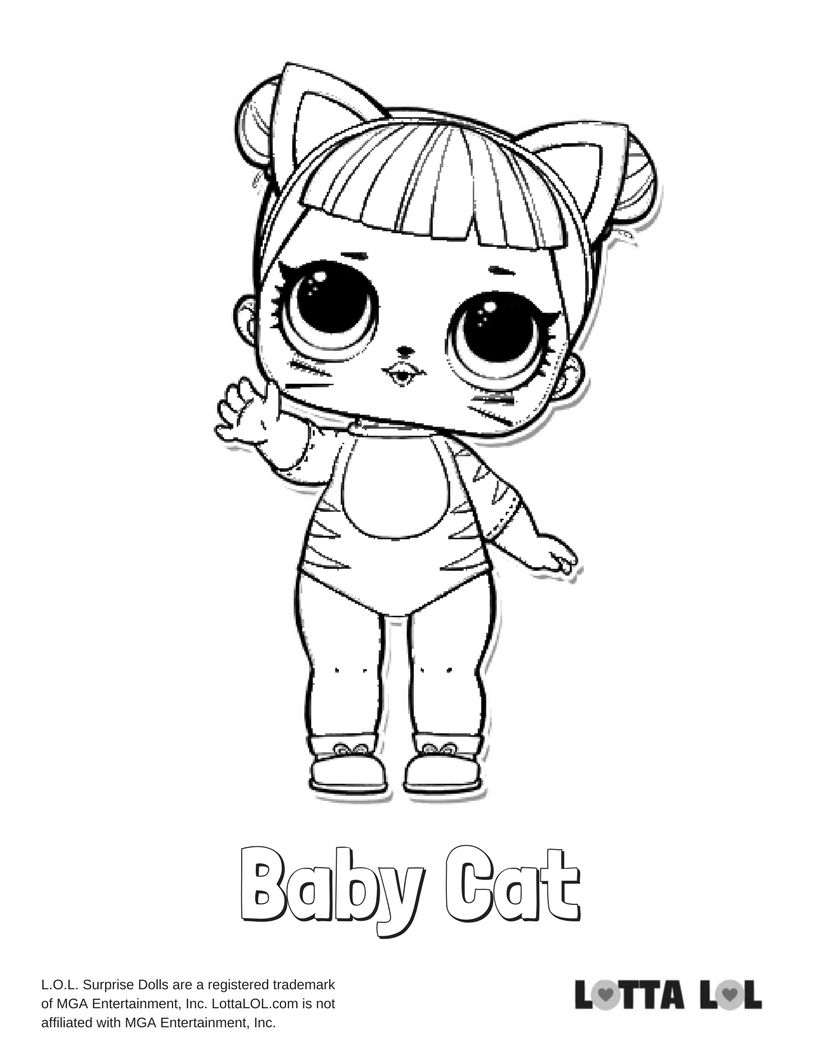 Baby Cat Coloring Page Lotta Lol Coloring Pages