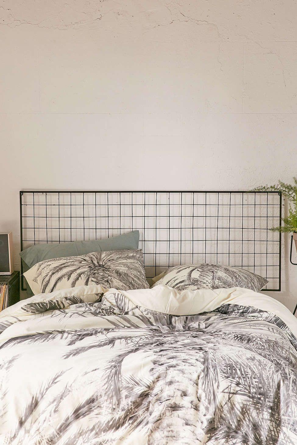 Master bedroom headboard  URBAN OUTFITTERS Grid Metal Headboard  Home Deco  Pinterest