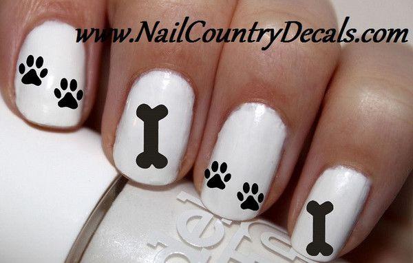 50 pc I Love My Dog Dogs Paw Print Prints Dog Bone Nail Decals Nail Art Nail Stickers Best Price NC700