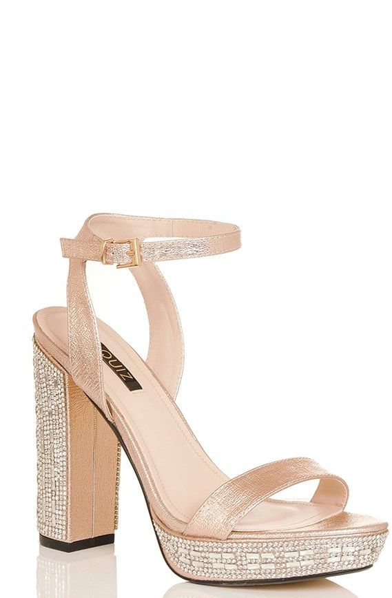 Quiz Platform Block Heeled Sandals