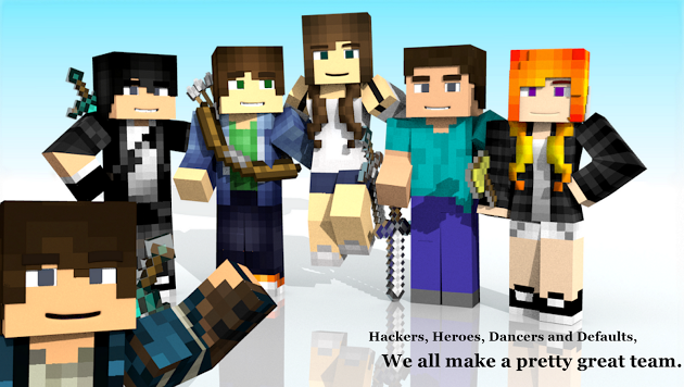 On your team a group photo render of the characters from my on your team a group photo render of the characters from my minecraft based book made in blender by me tristan journey ccuart Images
