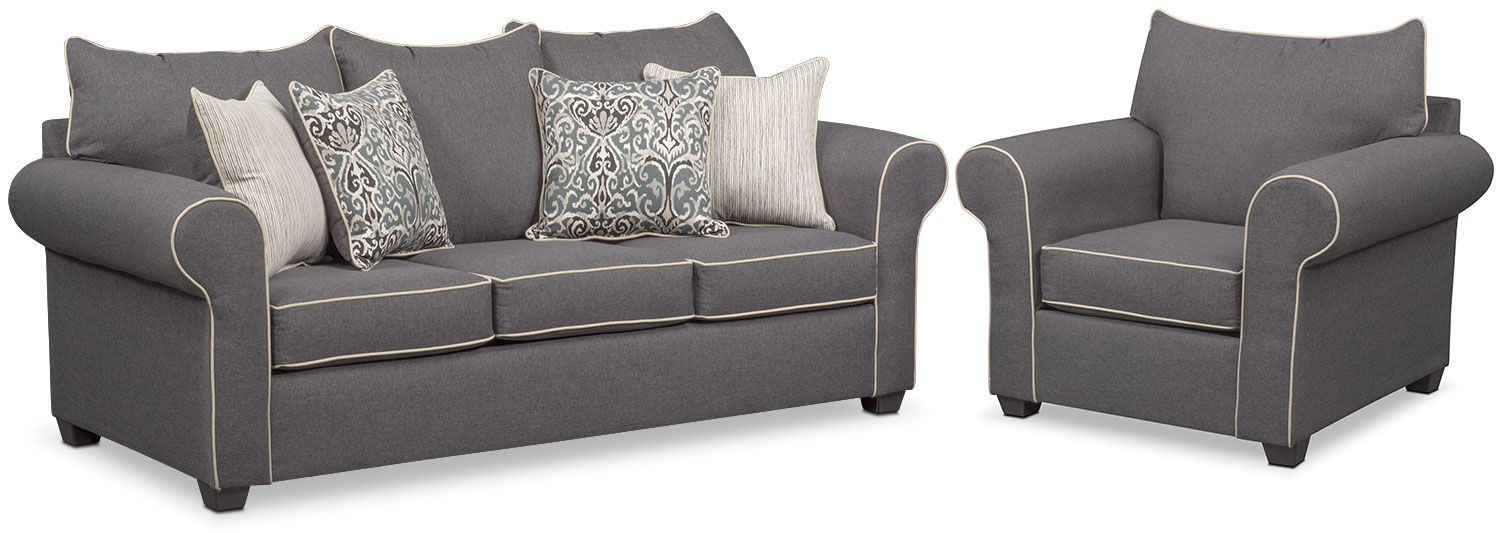 Carla Queen Sleeper Sofa And Chair Set Value City Furniture