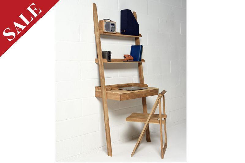 Wooden Leaning Desk In Oak Futon