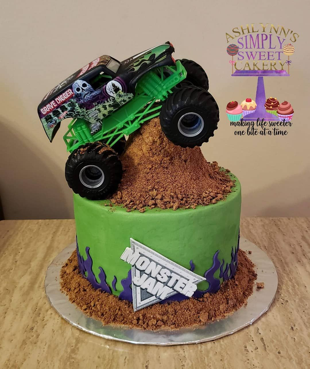 Fine Grave Digger Cake Google Search With Images Monster Jam Funny Birthday Cards Online Alyptdamsfinfo