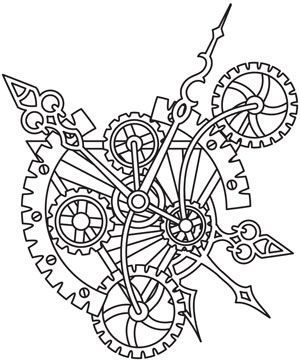 Steampunk Alchemy Clockwork Steampunk Coloring Paper Embroidery Coloring Pages