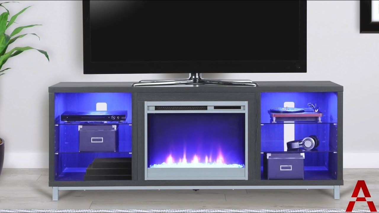 Ameriwood Home Lumina Fireplace Tv Stand Youtube Tv Stand