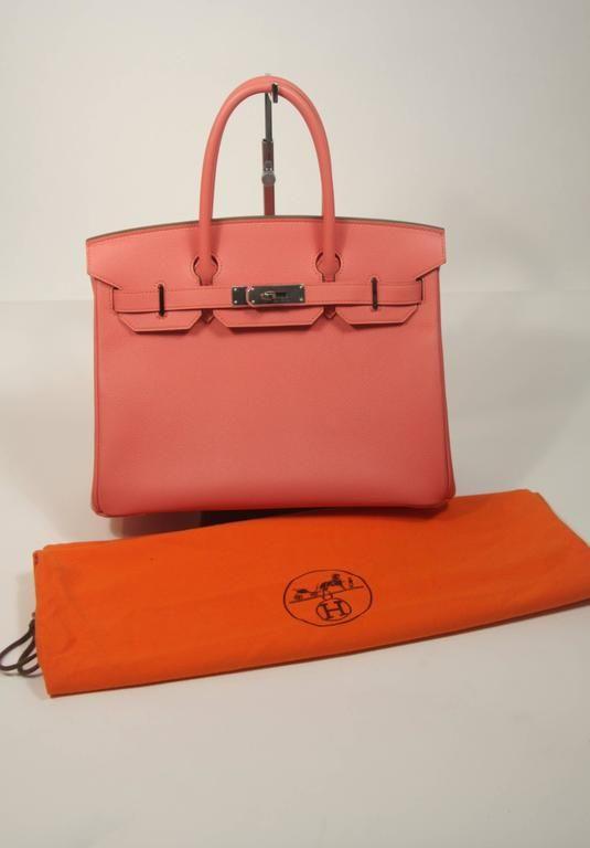 HERMES Birkin 30 Bag Rose Jaipur Pink Clemence Palladium 9