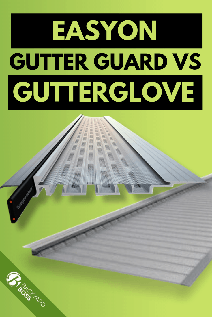 Easyon Gutter Guard Vs Gutterglove How To Choose Diy Gutters Gutter Bookshelf Gutter Protection