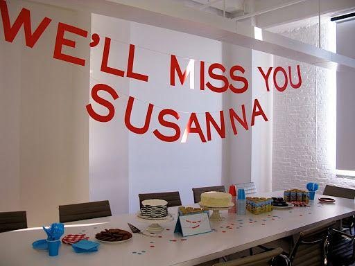 office farewell party ideas