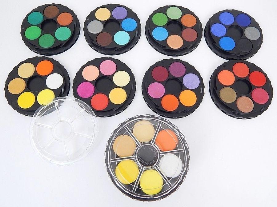 Details About Watercolour Paint Round Wheel Set Stackable Koh I