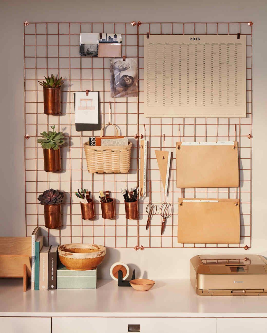Wall Desk Organizer Urban Outfitters Copper Wire Wall Square Grid Lostine Copper Cups And Basketville Upscale Mail Basket Wallh Wall Desk Room Decor Decor