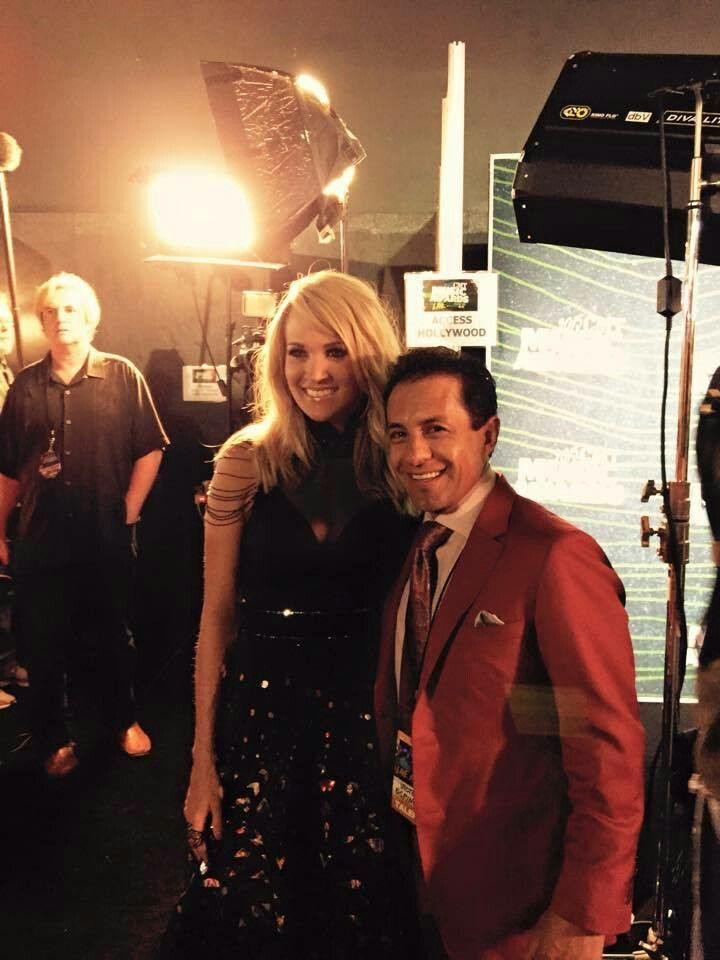 Carrie Underwood and Victor Espinoza