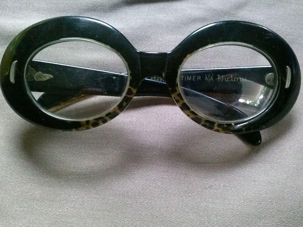 0891300d3572 cool vintage bakelite glasses ~ suntimer victory ~black with tortoise shell