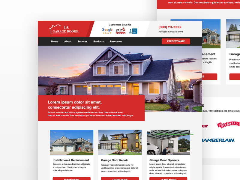1a Garage Doors Homepage Garage Doors Doors Garage